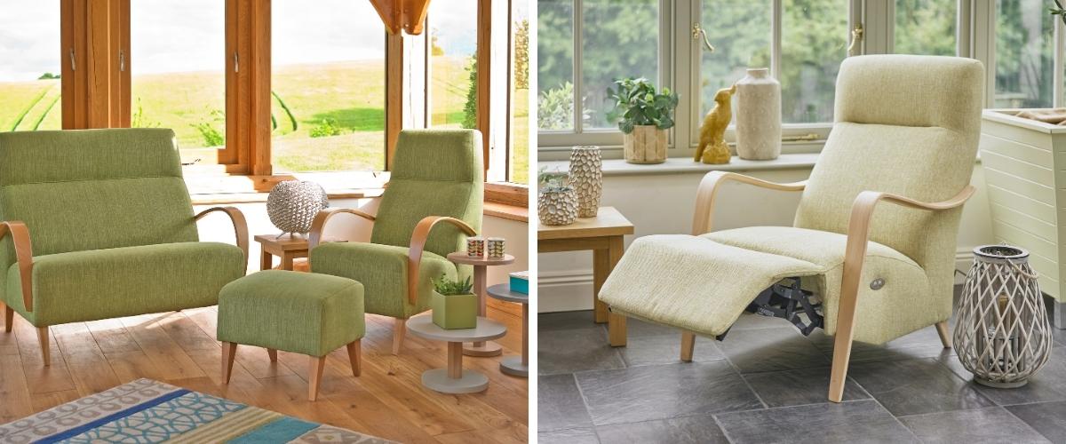 Wooden-framed conservatory furniture