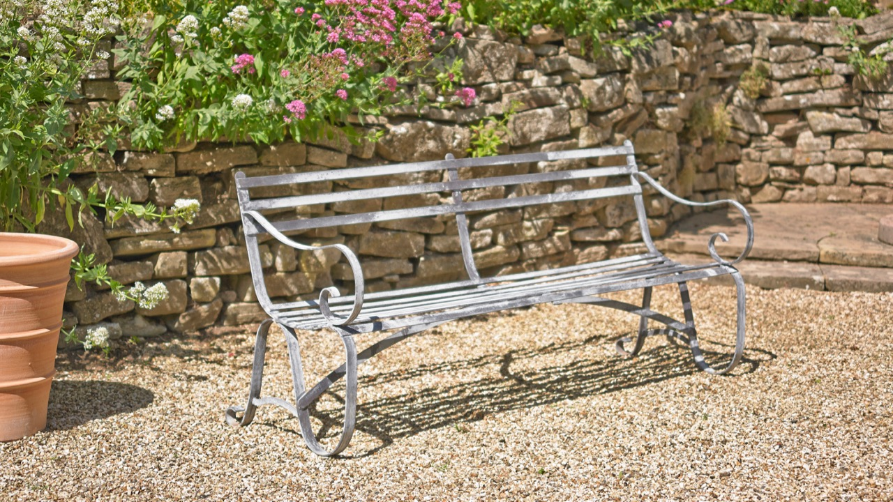 wrought bench mark english garden aluminium benches the moreton iron news teak