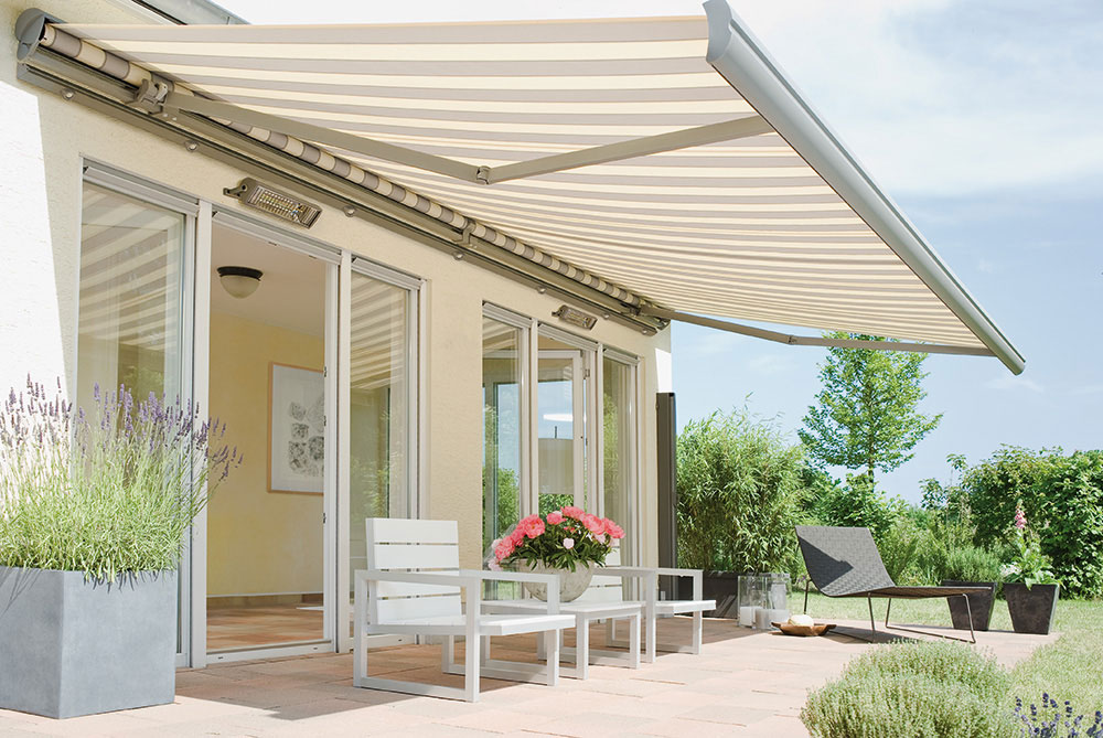 Haus Awnings Automatically Extend And Contract In Response To The Weather