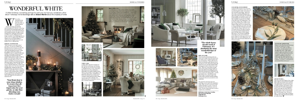 Midlands Living magazine white Christmas feature