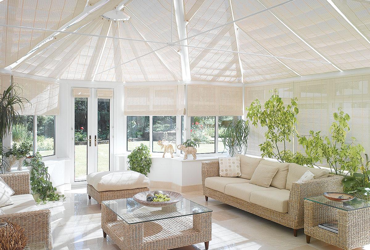 Linoleum roof blinds