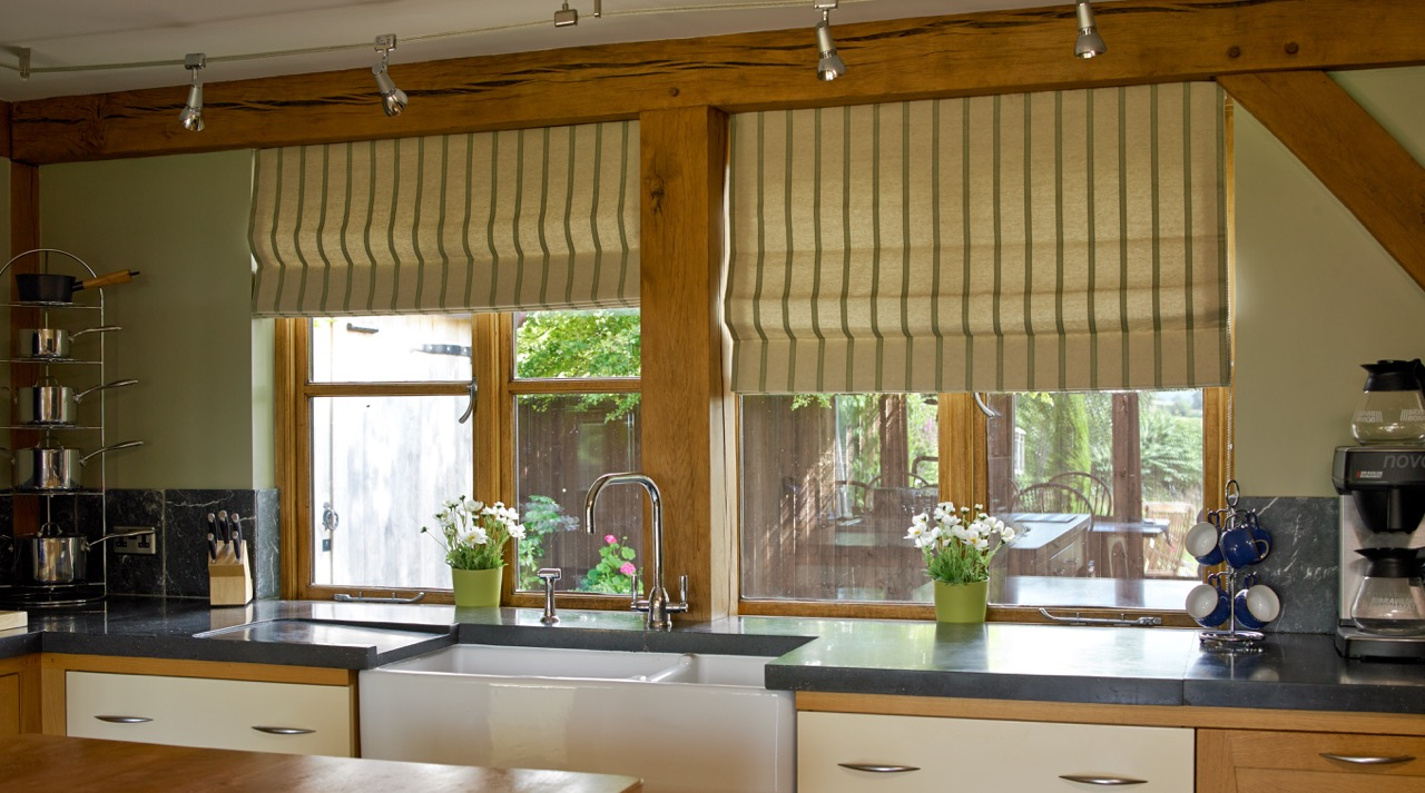 Roman Blinds for a kitchen window
