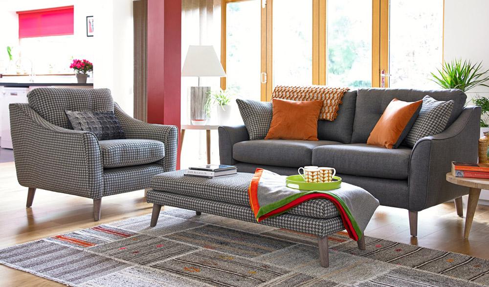 Carnaby Sofa, Armchair And Footstool