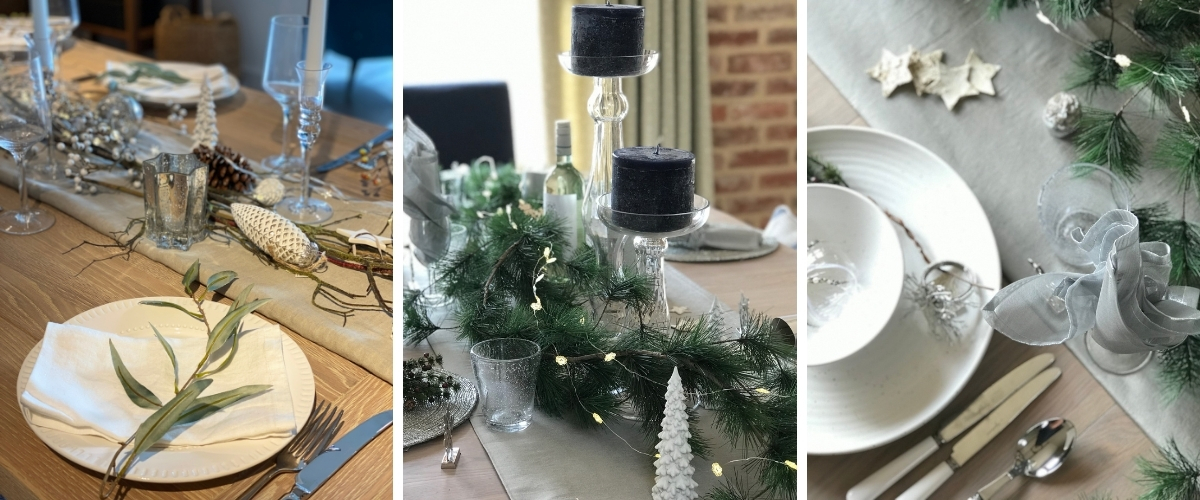 Blue Sheldrake Christmas table