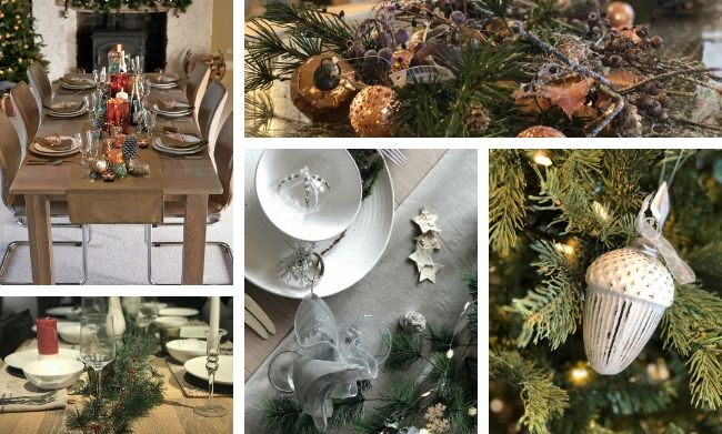 Olive Christmas tablescape