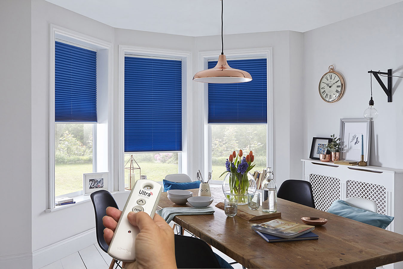Ultra Smart Powered Window Blinds Electric Roman Blinds